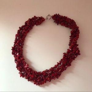 Lia Sophia Red stone necklace